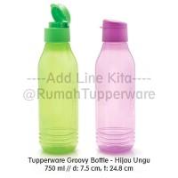 DOSCOUN Tupperware Groovy Bottle 2pcs - Hijau Ungu (Botol minum