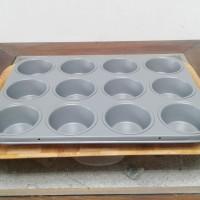 Jual Loyang kue teflon anti lengket 12 cup Muffin Pan / 1 buah Murah