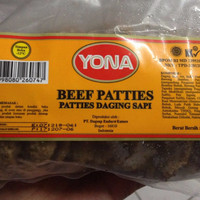 Jual Yona Beef Patties 250 Gr Isi 10 Patties Daging Sapi Olahan Burger Murah