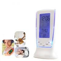 Jam Weker / Digital Desktop Smart Clock termometer suhu kalender led