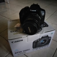 Kamera DSLR Canon EOS 1300 D + Lensa Fullset