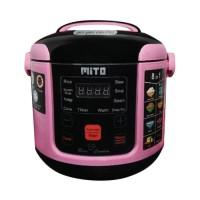 (Dijamin) MITO Digital Rice Cooker 8 in 1 - R1 - Pink