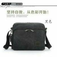 Harga promo tas selempang pria kanvas premium multifungsi import | Pembandingharga.com