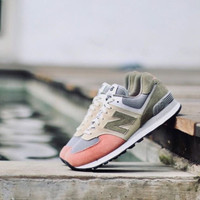 "NEW BALANCE CLASSIC 574 ""GREEN/GRAY/CORAL"" ORIGINAL"