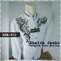 jasko putih full bordir new motif