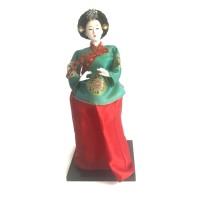 Souvenir Gift Boneka Hanbok Doll - Korean Hanbok Doll III