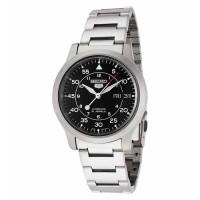 Jam Tangan Jam Tangan Uniex - Seiko 5 SNK809K1 Automatic Silver Black