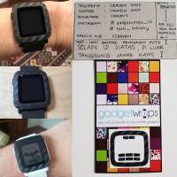 GadgetWraps Pebble Time Black Carbon Bezel Wrap