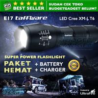 PAKET HEMAT Senter ULTRAFIRE LED Cree XM-L T6 2000 Lumens E17