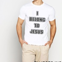 Tumblr Tee / T-Shirt / Kaos Pria Lengan Pendek I Belong To Jesus Terke