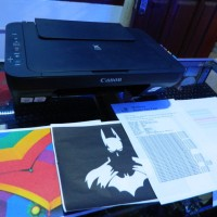 MURAH Printer Canon e400 All in One Plus INFUS Full Tank