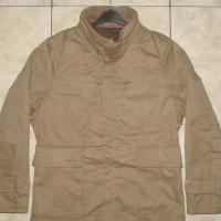 ABAHOUSE Khaki Stretch M65 Military Parka Jacket