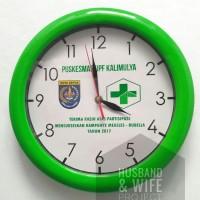 Jam Dinding Promosi / Logo Diamter besar 30 cm, Souvenir Murah