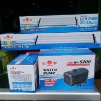Lampu aquarium cocok untuk aquascape YAMANO LED P400
