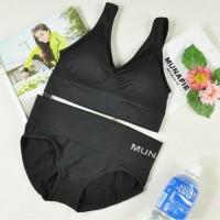 Munafie Celana dan Bra Sport include/ Bra Gym/ Bra & Celana Olahraga