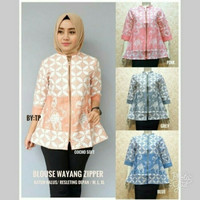Jual blouse Batik wanita muslimah batik modern batik baju kondanga pesta Murah