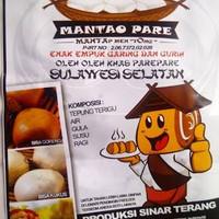 mantao pare sulawesi selatan isi 12 biji khas makassar