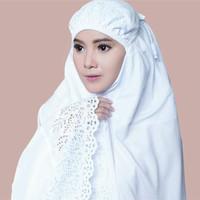 Mukena Katun Siti Khadijah Putih