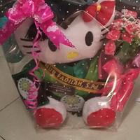 Jual boneka wisuda hello kitty putih lengkap 32cm Murah