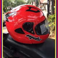 Helm Mds Prorider Flip Up Merah Maroon
