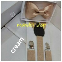 Jual paket suspender/ bretel/ tali jojon 2,5 cm + dasi kupu dewasa Murah