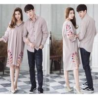 Dress Astral Brown / Couple / Couple Murah / Baju Couple /Dress Couple
