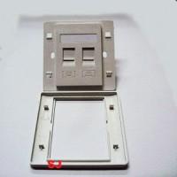 Faceplate Double RJ11/RJ45 + Modular RJ11/RJ45 Panel Outlet Socket