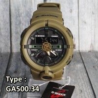 G-Shock Casio GA500 Frogman Army Green Hijau . jam tangan pria sporty