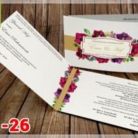 [V1] Undangan Pernikahan Soft Cover Murah & Unik 026