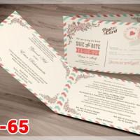 [V1] Undangan Pernikahan Soft Cover Murah & Unik 065