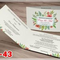 [V1] Undangan Pernikahan Soft Cover Murah & Unik 043