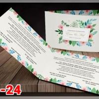 [V1] Undangan Pernikahan Soft Cover Murah & Unik 024