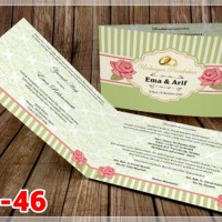 [V1] Undangan Pernikahan Soft Cover Murah & Unik 046