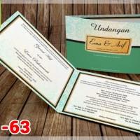 [V1] Undangan Pernikahan Soft Cover Murah & Unik 063