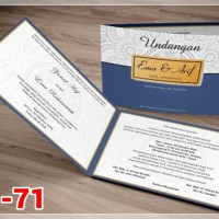[V1] Undangan Pernikahan Soft Cover Murah & Unik 071