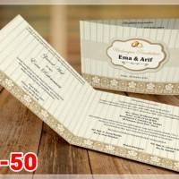 [V1] Undangan Pernikahan Soft Cover Murah & Unik 050