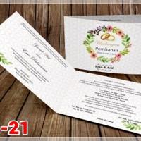 [V1] Undangan Pernikahan Soft Cover Murah & Unik 021