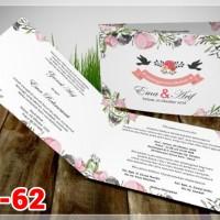 [V1] Undangan Pernikahan Soft Cover Murah & Unik 062