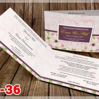 [V1] Undangan Pernikahan Soft Cover Murah & Unik 036