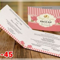 [V1] Undangan Pernikahan Soft Cover Murah & Unik 045