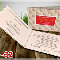 [V1] Undangan Pernikahan Soft Cover Murah & Unik 032