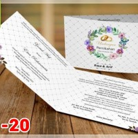 [V1] Undangan Pernikahan Soft Cover Murah & Unik 020