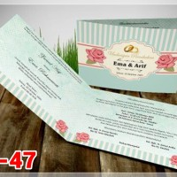 [V1] Undangan Pernikahan Soft Cover Murah & Unik 047