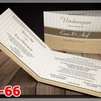[V1] Undangan Pernikahan Soft Cover Murah & Unik 066