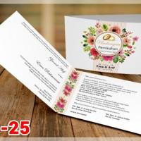 [V1] Undangan Pernikahan Soft Cover Murah & Unik 025
