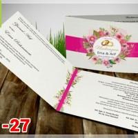 [V1] Undangan Pernikahan Soft Cover Murah & Unik 027