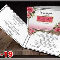 [V1] Undangan Pernikahan Soft Cover Murah & Unik 019