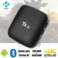 RAM 2 GB Rom 16 GB Android TV Box didukung Bluetooth 2.1 media player