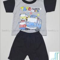 Baju Kaos Setelan Anak/Bayi Atasan T-Shirt Tayo