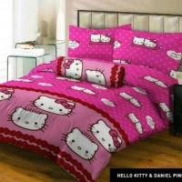Terbaru Sprei Lady Rose Hello Kitty & Daniel Pink No.3 Single 120